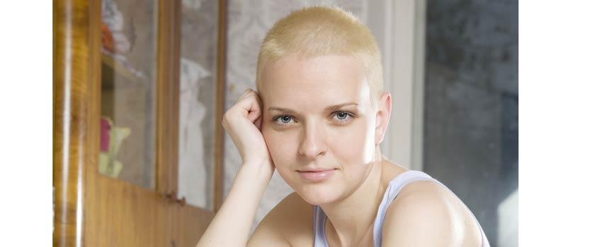 Haar na de chemo behandeling