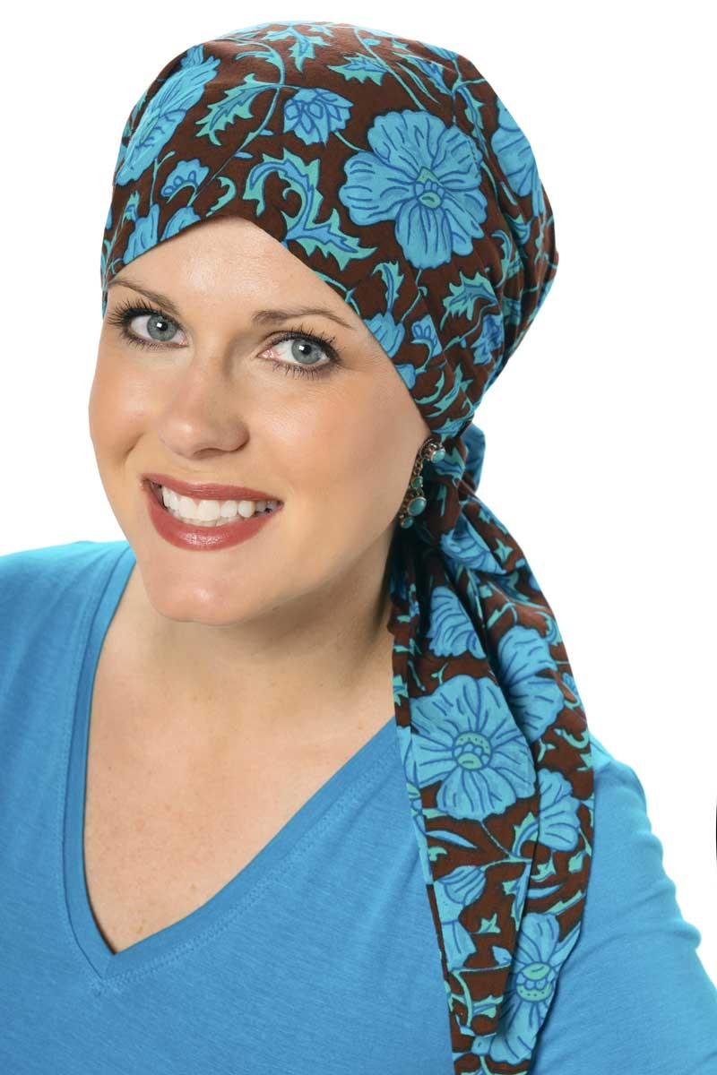 print-teal-cancer-headcovering
